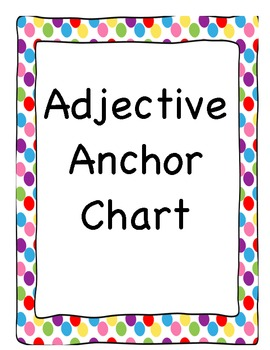 Adjective Anchor Chart - Polka Dot Border
