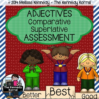 Comparative Superlative Adjective Assessment {Anchor Charts}