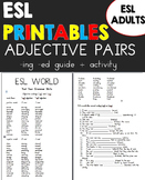 Adjective Endings -ed and -ing