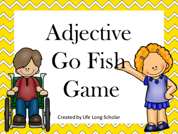 Adjective Go Fish Review Game