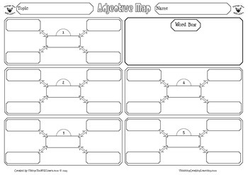 Adjective Map Graphic Organizer Set