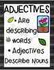 Adjective Mini Books Plant Theme