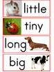Adjective Picture Cards -- Size Words