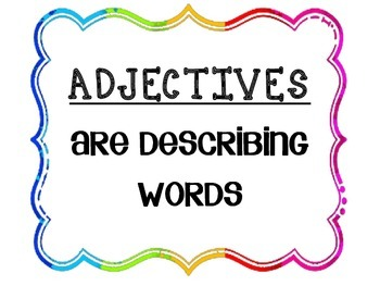 Adjective Posters (PDF)