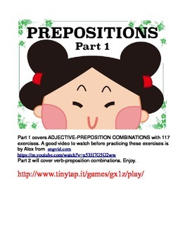 Adjective-Preposition Combinations for ESL Students APP