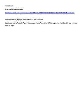 Adjective QR Code Activity (No prep)