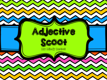 Adjective Scoot (A-Z) - Recording Sheet Included