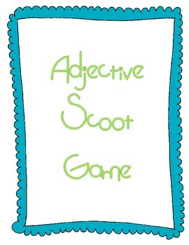 "Adjective ""Scoot"" Game"