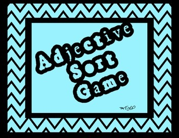 Adjective Sort Game