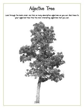 Adjective Tree Scholastic Book Order Activity