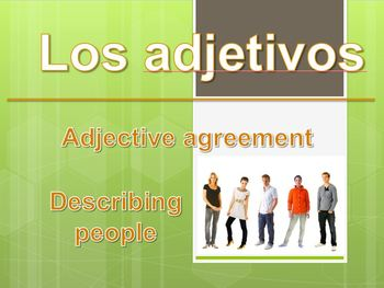 Adjective agreement people