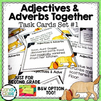 Adjective and Adverb Task Cards #1