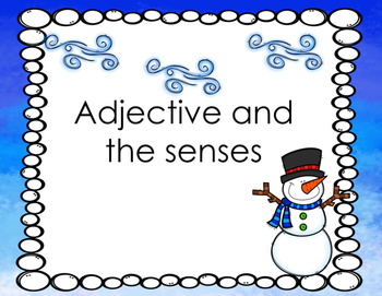 Adjective and Senses Task Cards