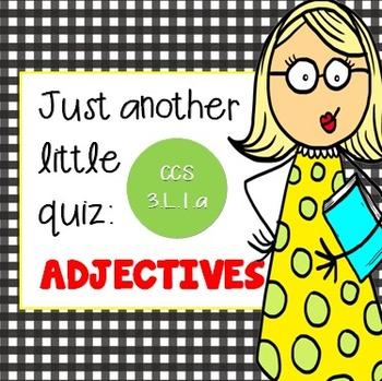 Adjectives 10 Mark Quiz {PowerPoint}
