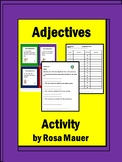 A Best-Selling Adjectives task Cards & Worksheet for Scoot