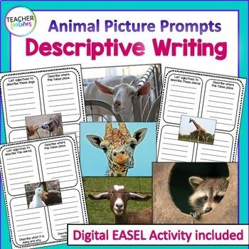 Descriptive Writing Graphic Organizers: Animals