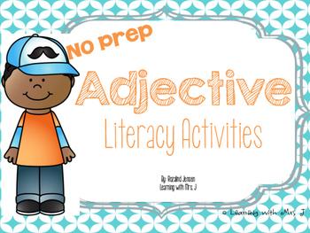 Adjectives Literacy Activities-No Prep