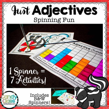 Adjective Games {3 Spinners with Each Spinner Equaling 7 A