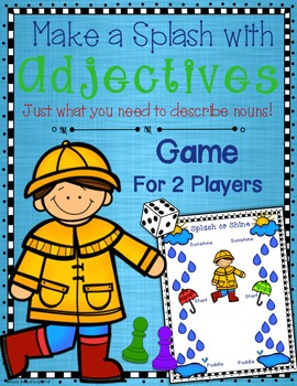 Adjectives Game and Gameboard