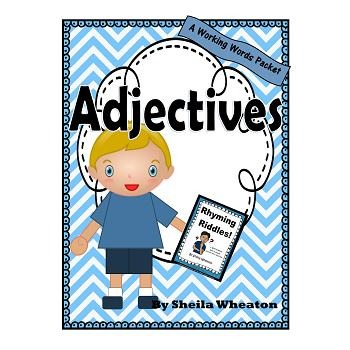 Adjectives:  A Working Words Packet for Young Readers