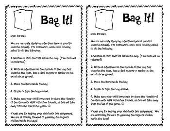 Adjectives: Bag It!