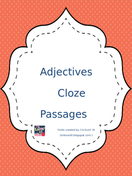 Adjectives Cloze Reading