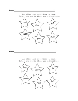Adjectives- GLAD awards, exit tickets, May-Dos