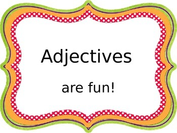 Adjectives PowerPoint...1st grade