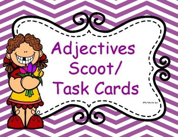 Adjectives Scoot Task Cards