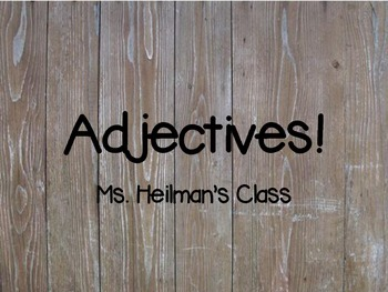 Adjectives-Special Education