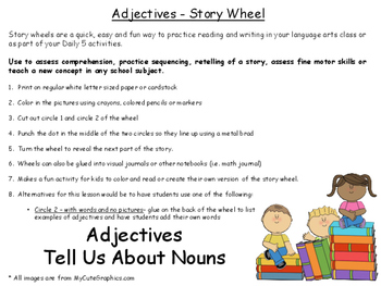 Adjectives Story wheel