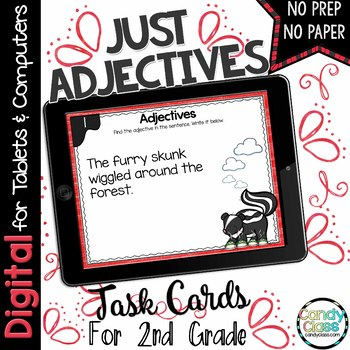 Adjectives Task Cards for Google Use
