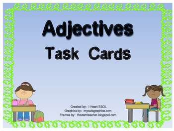 Adjectives Task Cards or Scoot Game