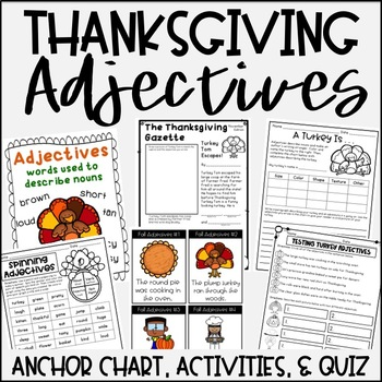 Adjective Activities {Thanksgiving Themed}