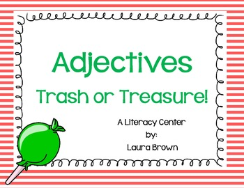 Adjectives Trash or Treasure Literacy Center
