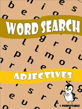 Adjectives Word Search