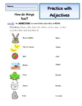 Adjectives Worksheets (2): How do things feel?