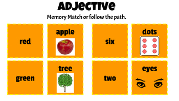 Adjectives and Adverbs: Memory, Follow the Path games and more!