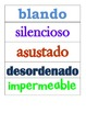 Spanish Adjectives (adjetivos)