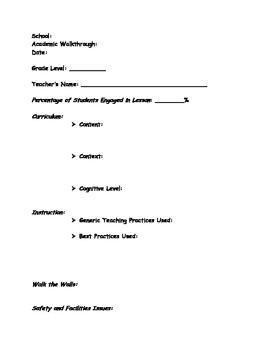 Administrator Walkthrough Form