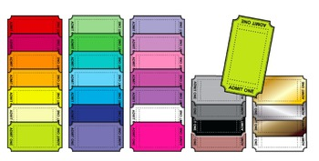 Admission Tickets - Clipart