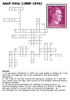 Adolf Hitler Crossword