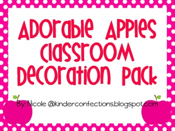 Adorable Apples and Bright Dots Classroom Decoration Pack