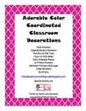 Adorable Color Coordinated Classroom Decor Pack