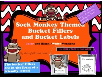 Adorable Sock Monkey Themed Have You Filled a Bucket Today