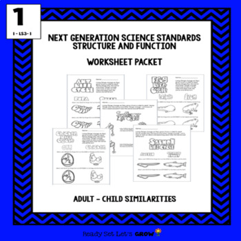 Adult-Child Similiarities: Worksheets (NGSS 1-LS3-1)