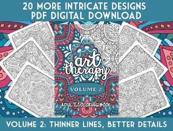 Coloring Book - Art Therapy Volume 2 - Printable PDF