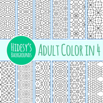 Adult Level Color In Detailed Coloring Patterns 4 / Digita