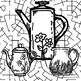 Adult Teen Coloring Pages, Fun, Enrichment, Still Life, Bu