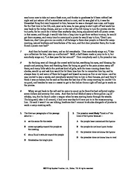 Adv of Huckleberry Finn Ch 20 English skills worksheet by